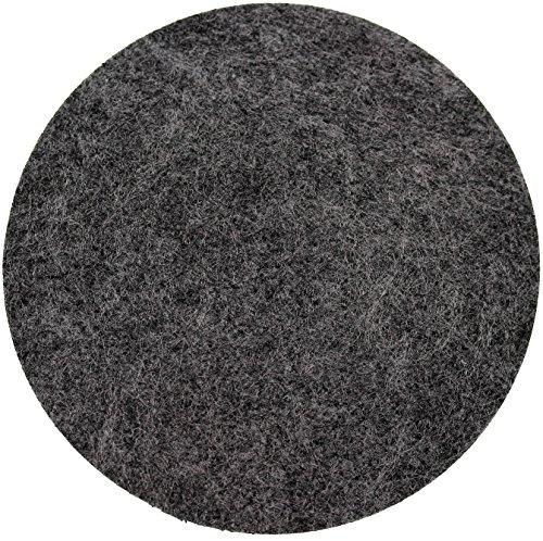 Filz Untersetzer Rund 8 Stück Dunkelgrau Anthrazit 10x10x0,3cm