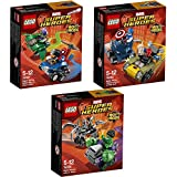 Lego Super Heroes Mighty Micros 3er Set 76064 76065 76066 Spider Man & Green Goblin + Captain America & Red Skull + Hulk & Ultron