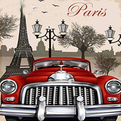 Mumustar DIY 5D Diamond Painting Kits Rhinestone Pasted Paris Old Cars Pattern Mosaic Numbers Embroidery Art Kits Cross Stitching Handcraft Art Mural Home Wall Decor
