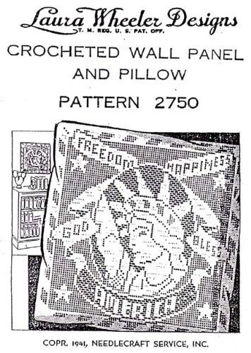 Filet Crochet Panel Pillow Pattern Liberty Enlightening The World