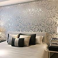 AllRight Optik Vliestapete Vlies Wand Tapete 3D Barock Rolle Wandtapete Dekoration 10M