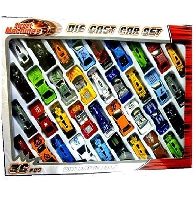 36 pc Druckguss Fahrzeugmodell gesetzt f1 Cabrio Rennwagen Kinder Spielzeug Spiel gesetzt 015930 von STREET MACHINES