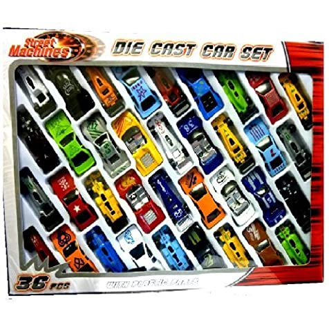 36 PC DIE CAST CAR MODEL SET F1 CONVERTIBLE RACING CARS KIDS TOY PLAY SET 015930