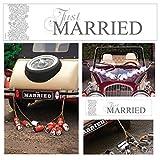 2 Hochzeits - Autokennzeichen als Deko für das Brautauto (just married -silber)