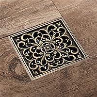 Un desagüe en el suelo cobre bronce antiguo anti insectos un desagüe en el suelo