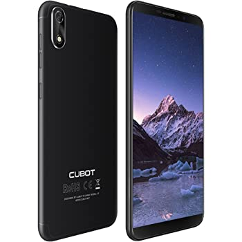 Cubot J3 Dual-SIM Smartphone (12,63 cm (5 Zoll) Full-Wide VGA TN Touch-Display,16GB interner Speicher, Android 8.1 Oreo(Go Edition) Handy Ohne Vertrag, Face ID, GPS/A-GPS) (Schwarz)