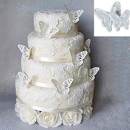 Hrph 2Pcs New Kuchen Dekorieren Werkzeuge DIY Fondant Schmetterlings-Form-Kuchen Cutter Cookie-Küchenzubehör