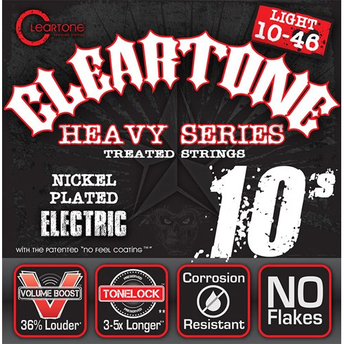 Cleartone-cl9510Set von Saiten für E-Gitarre, Schwarz