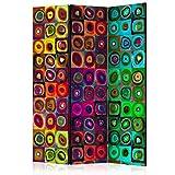 murando - Biombo azulejo Colorido - 135x172 cm de impresión Bilateral en el Lienzo...