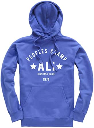 Ali The Greatest Rumble in The Jungle Boxing Premium Men's Royal Blue Hoodie/Hoody/Hooded Top