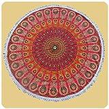 Simandra Wandtuch rund Mandala indischer Wandbehang Tischdecke Tuch 1