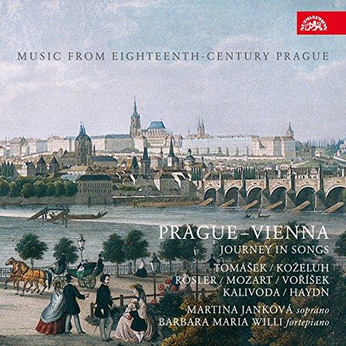 Book's Cover of Musique à Prague au 18e siècle  De Vienne à Prague un voyage en mélodies Jankova Willi