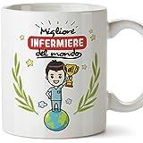 Mugffins Infermiere Tazze Originali di caffè e Colazione da Regalare Lavoratori e Professionisti - Migliore Infermiere del Mo
