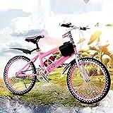 Ciclo di addestramento del bambino di equilibrio dei bambini di bicicletta leggero 6-12 anni bambini ragazzi ragazze che corrono la sicurezza prima mountain bike , Pink