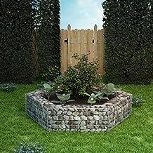Festnight Jardinière à Gabion hexagonale pour Jardin