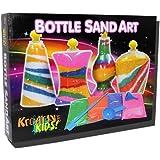 Ram© 12 x Pieces Make Your Own Kids Glitter Glass Sand Art Craft Bottles Toy Set