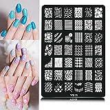 KINGDUO Nail Art Immagine Stampa Piatto Polacco Stampaggio Modello Suggerimenti Fai da Te Design