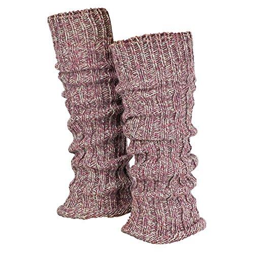 Tobeni 1 Par de Calentadores de Piernas de las Mujer de Invierno cálido Cuello Legwarmer Lana Color Multicolor-Rosa Tamaño Talla única