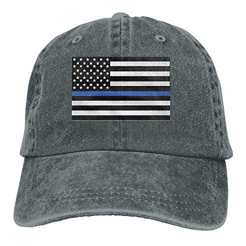 (Infant Support The Police Thin Blue Line American Flag Cute Baby Onesie Bodysuit Snapback Cotton Cap)