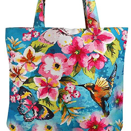 Digital gedruckte Multi Mode-Einkaufstasche - Bunte Faux Silk Taschen-Tasche mit Polysatin Futter Multi-61