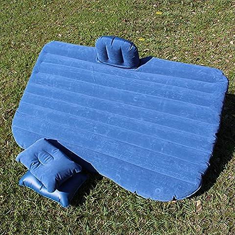 Portátil de coche colchón de aire inflable que se reúne la cama de asiento trasero para los coches SUV, con Bomba (azul)