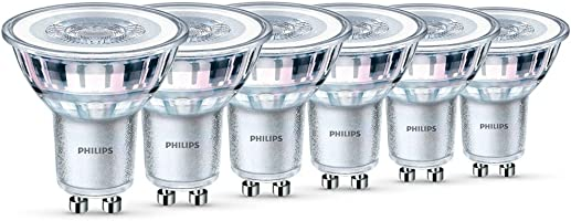 Philips LED Classic 4.6 W GU10 Glass LED Spot Light (Replacement for 50 W Halogen Spot) - Warm White  (pack of 6)
