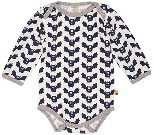 loud + proud Unisex Baby Body Lang, Druck Blau (Midnight Mi), 68 (Herstellergröße: 62/68)