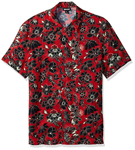Just Cavalli Herren Mens Woven Shirt Smokinghemd, True Red Variant, 54