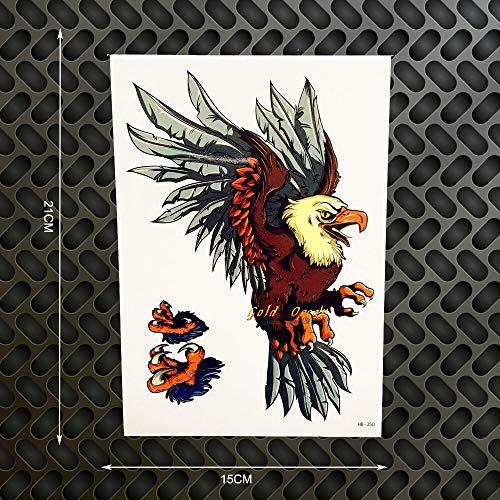 tzxdbh 2 Stücke 3D Flying Eagle Design wasserdichte Tattoo Removable Tattoo Stickersghb-350 Männer Körperkunst Hülse Arm Tatoo Selfie Auto -