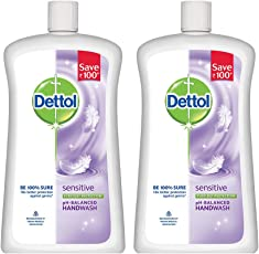 Dettol Sensitive Liquid Soap Jar - 900 ml (Pack of 2)
