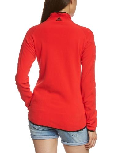 Adidas W ASE CW Veste zippée en micropolaire Rouge - Rouge vif