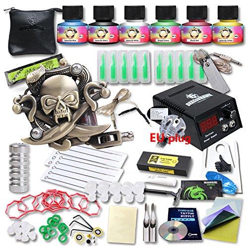 dragonhawk-tattoo-kit-machine-gun-top-ce-power-supply-needles-grip-tip-usa-brand-ink-kt-1eu-1