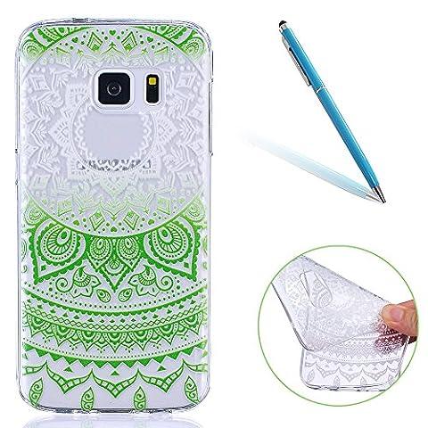 Couverture Transparent Doux Jelly Gel TPU Arrière pour Samsung Galaxy S7 5.1