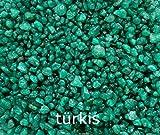 Fuchs seit 1895 Dekogranulat Farbkies Dekosteine 2-4 mm 1000 g Streudeko - Made IN Germany, Farbe:türkis