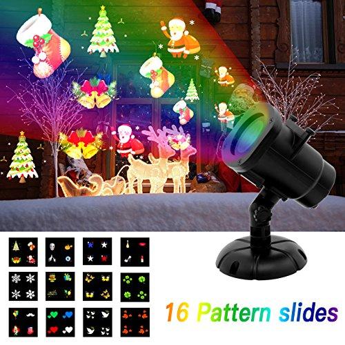 nslampe projector licht met 16verschillende lichteffecten. spatwater beschermd Spotlight voor binnen en buiten, Halloween, Kerstmis, bruiloft, verjaardag, Valentijnsdag (2017) (Halloween-party-themes 2017)