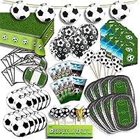 Fußball Komplett Party Set für 8 Gäste XL 84-teilig hier ist alles drin Fussball Deko Party
