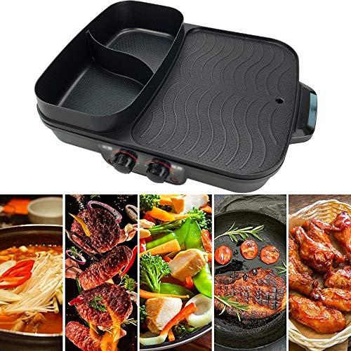 CHOME Multifunktions Raclette Grill Rauchfreier Indoor-BBQ-Tisch Elektrogrill Grill im koreanischen Stil Antihaft-Grillplatte 1500W