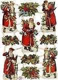 Creativ 16.5 x 23.5 cm Nostalgic Santa Claus Paper Vintage Die-Cuts 3 Sheet, Multi-Color