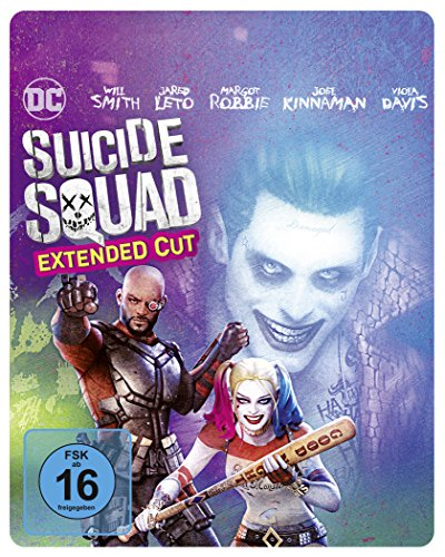 Suicide Squad als Steelbook mit Extended Cut und Illustrated Artwork (Limited Edition exklusiv bei Amazon.de) [Blu-ray]