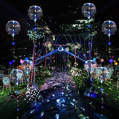 Crazy lin 18-Zoll-LED-BOBO-Ballon-Fee-Schnur-Lichter mit Batteriekasten für Halloween-Geburtstags-Hochzeits-Weihnachtsneuen Jahr-Partei dekorativ, mit Helium-Mehrfarben befüllbar