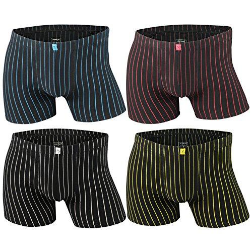 4er | 8er | 12er Pack Herren Retro Boxershorts REMIXX schwarz - exclusive von Lavazio® 4er Pack - Modell 086a