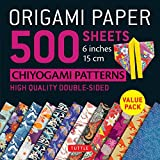 Origami Paper 500 sheets Chiyogami Designs 6 inch 15cm: High-Quality Origami Sheets Printed with 12 Different Designs (Origami Paper Pack) - Tuttle Publishing