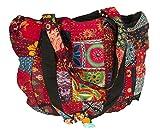 Tribe Azure Rot Bunt Groß Damen Schulter Tasche Tote Markt Schule Laptop Täglich Leger Alltag Komfortabel Boho (Rot)