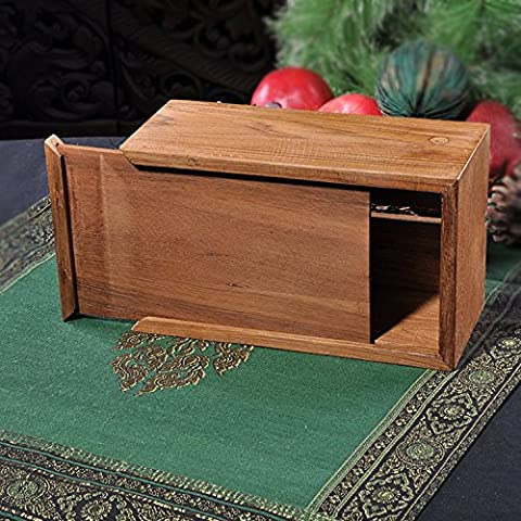 yxhflo Solid wood paper box logs accessible tray Southeast Asian country-style reminiscent of the creative mini admit paper accessible cartridge
