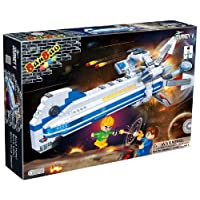 JJays Store Ideal Easter Birthday Present - Fits With All Leading Brands - Banbao Construction Bricks Blocks 515 Piece Spaceship - Age 5+ Number One Selling Build & Create - Children Boys Child