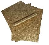 A4Glitzer Papier Rose Gold Sparkly Soft Touch Fusselfreier Dick 150gsm Papier Pack 10Blatt