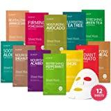 Glam Up Tissue Mask BTS 12Combo Facial Tissue Mask: la collezione suprema definitiva per ogni condizione della pelle. La natu