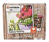 GARDENA 1407-20 city gardening Balkon Bewässerung, ideal zur vollautomatischen Bewässerung von Blumenkästen, für 5-6 Blumenkästen, einfache Auswahl der Bewässerungsdaten aus 13 Festprogrammen.