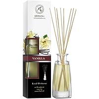 Diffuseur Parfum de Vanille 100ml - Naturel Fragrance Fraîche et Durable - Kit Diffuseur Cadeau avec 8 Bâtonnets de…