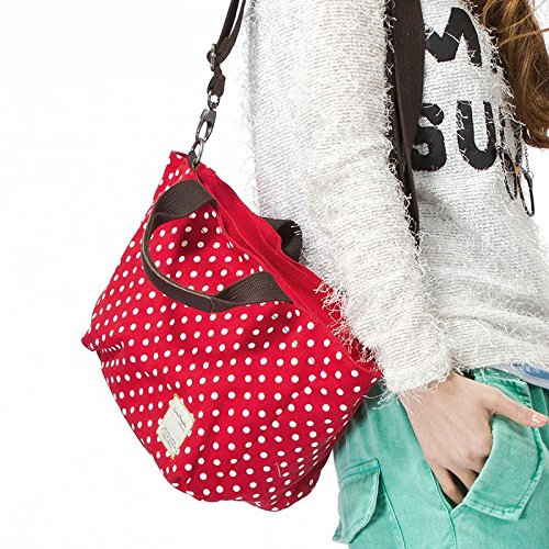 &ZHOU femminile borsa di tela grande capacità di moda borsa a tracolla zaino di svago Messenger bag 23 * 30 * 9cm , republic red republic red
